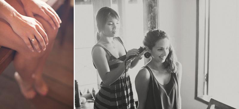 Bali Wedding Girls Getting Hair Done