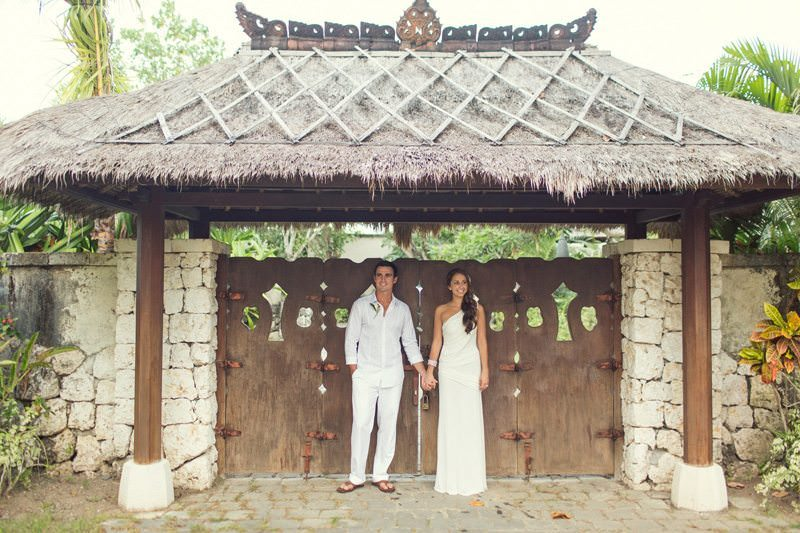 Bali Wedding In Front Of Gate