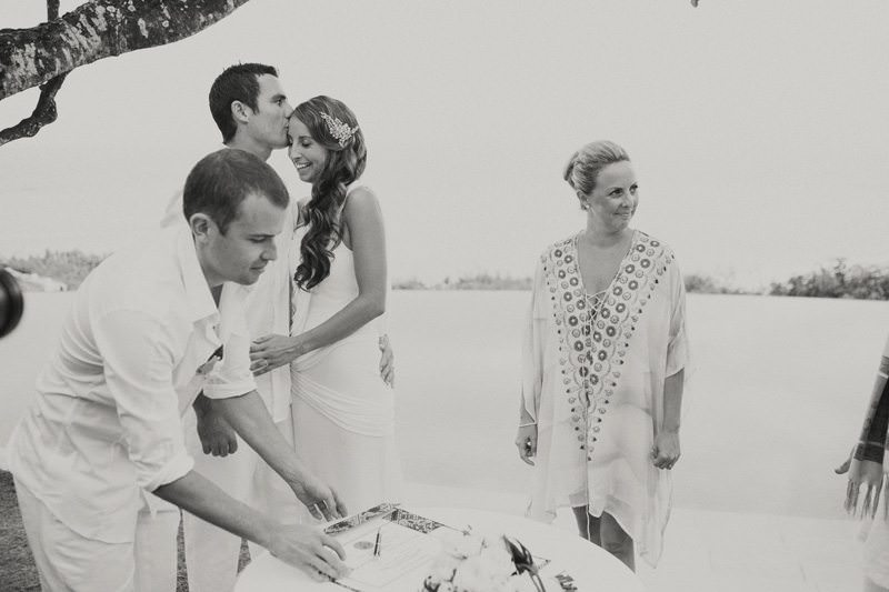 Married Couple At Bali Wedding